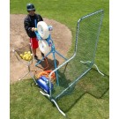L-Shaped Fixed-Frame™ Pitchers Screen - 6 1/2' Tall from The Jugs Company