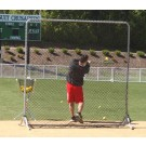 Square Fungo Fixed-Frame Screen - 8' Tall from The Jugs Company