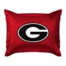 "Georgia Bulldogs Coordinating Pillow Sham from ""The Locker Room Collection"" by Kentex"