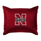 "Nebraska Cornhuskers Coordinating Pillow Sham from ""The Locker Room Collection"" by Kentex"