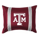 """Texas A & M Aggies Pillow Sham from """"The Sidelines Collection"""" by Kentex"""