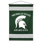 "Michigan State Spartans 29.5"" x 45"" Coordinating NCAA ""Sidelines Collection"" Wall Hanging from Kentex"