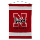 "Nebraska Cornhuskers 29.5"" x 45"" Coordinating NCAA ""Sidelines Collection"" Wall Hanging from Kentex"