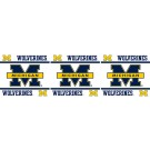 "Michigan Wolverines 5"" x 15' Wall Border from Kentex"