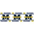 """Michigan Wolverines 5"""" x 15' Wall Border from Kentex"""