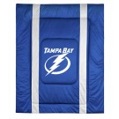 "Tampa Bay Lightning Jersey Mesh Twin Comforter from ""The Sidelines Collection"" by Kentex"