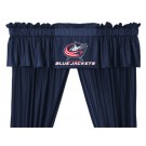 Columbus Blue Jackets Coordinating Ruffled Valance by Kentex