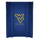 West Virginia Mountaineers Locker Room Collection Shower Curtain by Kentex