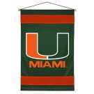 "Miami Hurricanes 29.5"" x 45"" Coordinating NCAA ""Sidelines Collection"" Wall Hanging from Kentex"