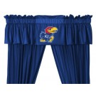 Kansas Jayhawks Coordinating Valance for the Locker Room or Sidelines Collection by Kentex