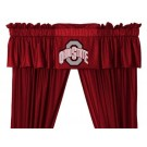 Ohio State Buckeyes Coordinating Valance for the Locker Room or Sidelines Collection by Kentex