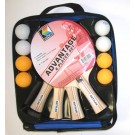 Kettler Tennis Table 4-Player Advantage Set (Paddles, Balls, Case)