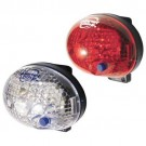 Planet Bike Blinky Safety 1 - White and Red LED Bicycle Light Set