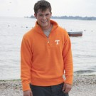Tennessee Volunteers Unisex Half Zip Pullover Sweater (Light Orange)