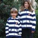 Auburn Tigers Toddler Full Zip Rugby Hoodie - Medium (Navy / White)