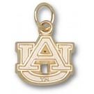 "Auburn Tigers 3/8"" ""AU"" Charm - 10KT Gold Jewelry"