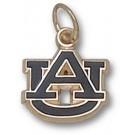 """Auburn Tigers 3/8"""" """"AU"""" Enamel Charm - 10KT Gold Jewelry"""