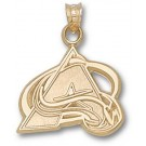 "Colorado Avalanche 5/8"" ""A"" Pendant - Gold Plated Jewelry"