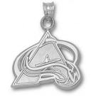 "Colorado Avalanche ""A Logo"" 5/8"" Pendant - Sterling Silver Jewelry"