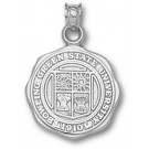 """Bowling Green State Falcons """"Seal"""" Pendant - Sterling Silver Jewelry"""
