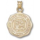 """Bowling Green State Falcons """"Seal"""" Pendant - 14KT Gold Jewelry"""