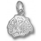 "Chicago Blackhawks ""Blackhawks Head Logo"" 5/16"" Charm - Sterling Silver Jewelry"