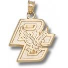 """Boston College Eagles New """"BC & Eagle"""" 5/8"""" Pendant - 14KT Gold Jewelry"""