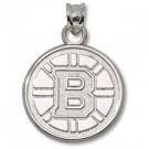 "Boston Bruins 5/8"" ""B"" Logo Pendant - Sterling Silver Jewelry by"