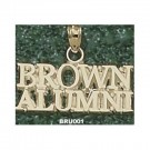 "Brown Bears ""Brown Alumni"" Pendant - 14KT Gold Jewelry"