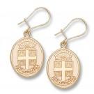 """Brown Bears """"Seal"""" Dangle Earrings - 10KT Gold Jewelry"""