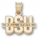 "Ball State Cardinals ""BSU"" Pendant - 14KT Gold Jewelry"