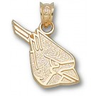 "Ball State Cardinals ""Cardinal Head"" Pendant - 14KT Gold Jewelry"