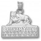 """Brigham Young (BYU) Cougars """"BYU"""" Logo 5/8"""" Pendant  - Sterling Silver Jewelry"""