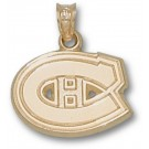 "Montreal Canadiens 1/2"" ""C"" Logo Pendant - 10KT Gold Jewelry"