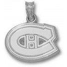 """Montreal Canadiens """"C Logo"""" 1/2"""" Pendant - Sterling Silver Jewelry"""