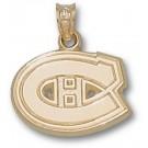 "Montreal Canadiens ""C Logo"" 1/2"" Pendant - 14KT Gold Jewelry"