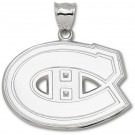 """Montreal Canadiens Giant 2"""" W x 1 3/8"""" H """"C Logo"""" Pendant - Sterling Silver Jewelry"""