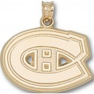 "Montreal Canadiens ""C Logo"" 5/8"" Pendant - 14KT Gold Jewelry"