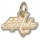 "Washington Capitals 3/8"" Logo Charm - Gold Plated Jewelry"