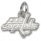 "Washington Capitals 3/8"" Logo Charm - Sterling Silver Jewelry"