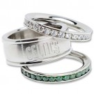 Boston Celtics Logo Crystal Stacked Ring Set (Size 7)