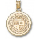 """Cleveland State Vikings """"Seal"""" Pendant - 10KT Gold Jewelry"""