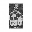 """Cleveland State Vikings """"CSU Soccerball"""" Pendant - Sterling Silver Jewelry"""