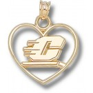 """Central Michigan Chippewas Motion """"C"""" Heart Pendant - 14KT Gold Jewelry"""