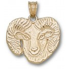 "Colorado State Rams Detailed ""Ram"" Pendant - 14KT Gold Jewelry"