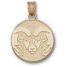 "Colorado State Rams Graphic ""Ram"" 5/8"" Pendant - 14KT Gold Jewelry"