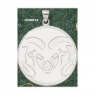 "Colorado State Rams Giant 1 1/2"" W x 1 1/2"" H Graphic ""Ram Head"" Pendant - Sterling Silver Jewelry"