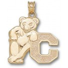 """Cornell Big Red Bears """"Bear with C"""" Pendant - 14KT Gold Jewelry"""