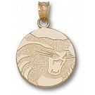 "California State (Chico) Wildcats Circle ""Wildcat"" 5/8"" Pendant - 14KT Gold Jewelry"
