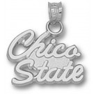 "California State (Chico) Wildcats Script ""Chico State"" 1/2"" Pendant - Sterling Silver Jewelry"